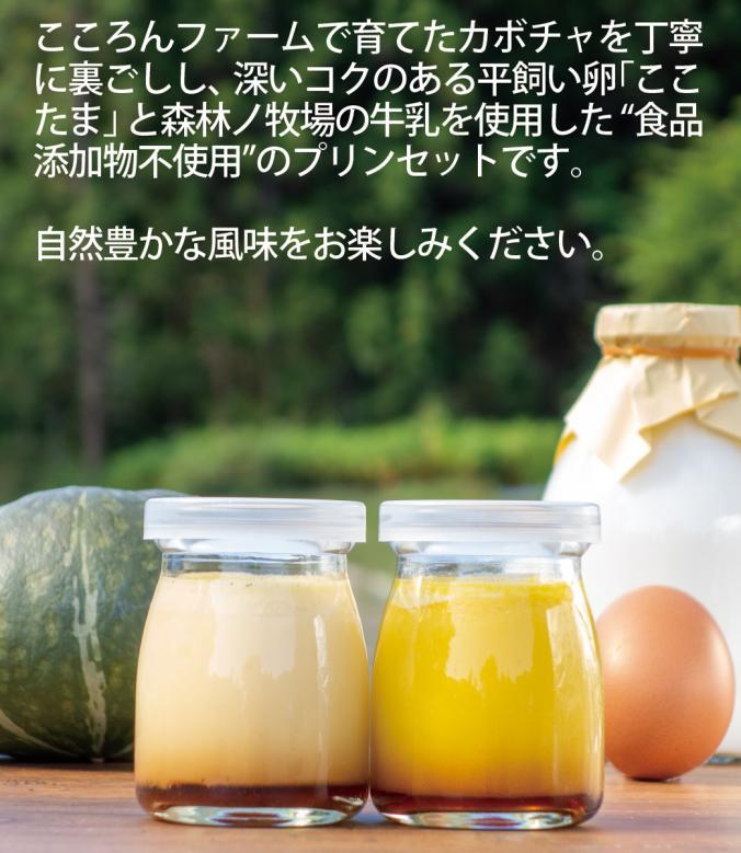 手プリンセット かぼちゃプリン2個、たまごプリン2個 食品添加物不使用